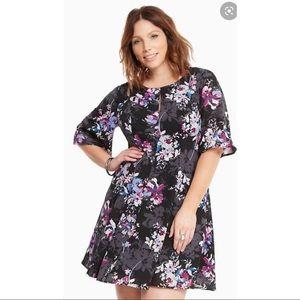 Torrid Georgette Flutter Sleeve Dress Plus Size 24